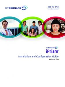 Installation and Configuration Guide Version 6.0