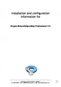 Installation and configuration information for