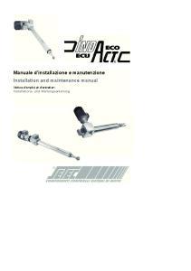 Installation and maintenance manual. Installation and maintenance manual