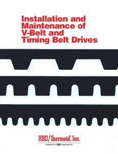 Installation and Maintenance of V-Belt and Timing Belt Drives