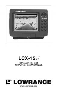 INSTALLATION AND OPERATION INSTRUCTIONS