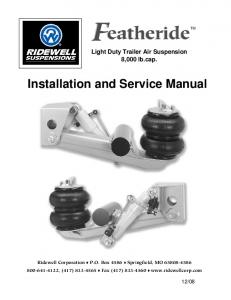 Installation and Service Manual