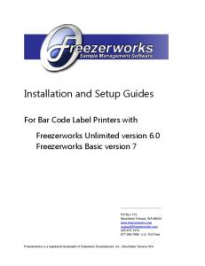 Installation and Setup Guides