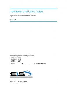 Installation and Users Guide