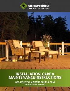 installation, care & maintenance instructions