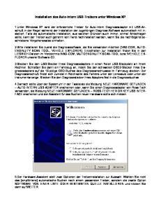 Installation des Auto-Intern USB-Treibers unter Windows XP