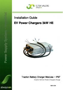 Installation Guide EV Power Chargers 3kW HE