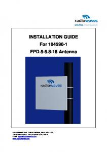 INSTALLATION GUIDE For FPD Antenna