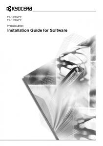Installation Guide for Software