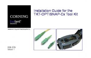 Installation Guide for the TKT-OPTISNAP-Cx Tool Kit