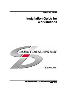 Installation Guide for Workstations