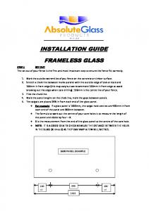 INSTALLATION GUIDE FRAMELESS GLASS