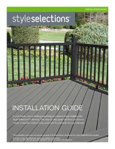 INSTALLATION GUIDE INSTALLATION GUIDE