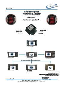 Installation guide Multimedia Adapter