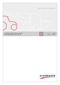 Installation Guide Power enhancement John Deere EDC 136 kw. The Emotion of Motion