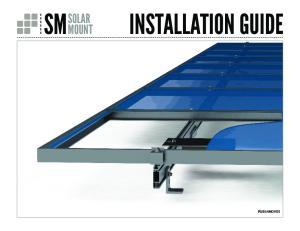 INSTALLATION GUIDE SM SOLAR MOUNT PUB14NOV03
