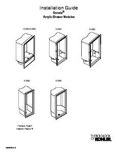 Installation Guide Sonata R Acrylic Shower Modules