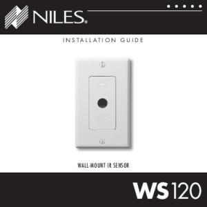 INSTALLATION GUIDE WALL-MOUNT IR SENSOR WS120