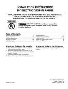 INSTALLATION INSTRUCTIONS 30