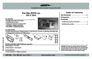 Installation instructions for part