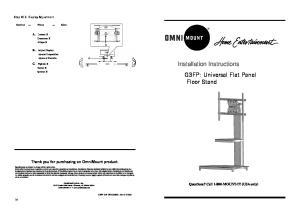 Installation Instructions G3FP: Universal Flat Panel Floor Stand