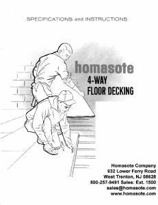Installation Instructions Homasote Company 4-Way Floor Deck PRODUCT DESCRIPTION