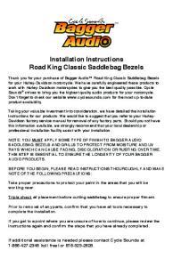 Installation Instructions Road King Classic Saddlebag Bezels