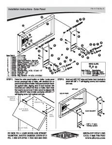Installation Instructions - Solar Panel