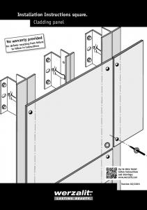 Installation Instructions square. Cladding panel