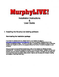 Installation Instructions & User Guide