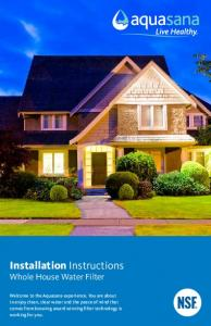 Installation Instructions Whole House Water Filter