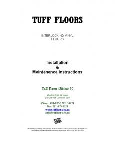 Installation & Maintenance Instructions