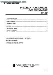INSTALLATION MANUAL GPS NAVIGATOR GP-90