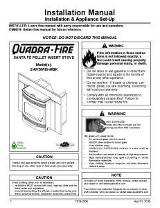 Installation Manual Installation & Appliance Set-Up