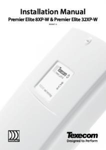 Installation Manual Premier Elite 8XP-W & Premier Elite 32XP-W