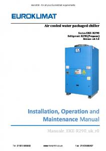 Installation, Operation and Maintenance Manual