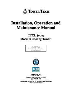 Installation, Operation and Maintenance Manual