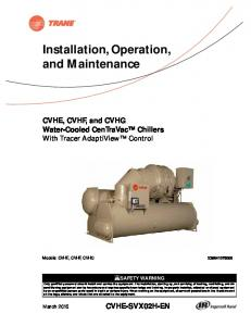 Installation, Operation, and Maintenance