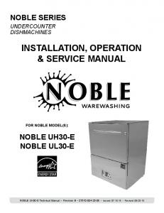 INSTALLATION, OPERATION & SERVICE MANUAL