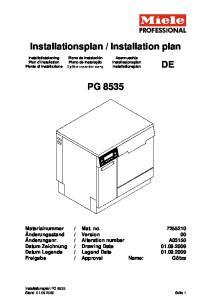 Installation plan PG 8535