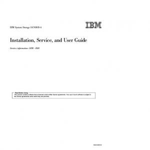 Installation, Service, and User Guide