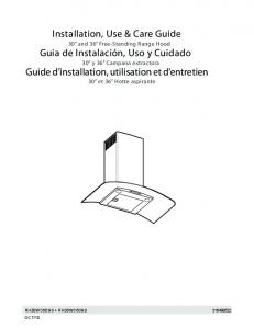 Installation, Use & Care Guide