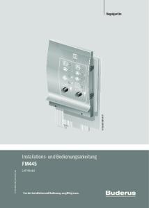 Installations- und Bedienungsanleitung FM445