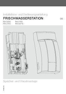 Installations- und Bedienungsanleitung FRISCHWASSERSTATION