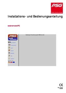 Installations- und Bedienungsanleitung. webremote4pc