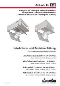 Installations- und Betriebsanleitung Airblock FG 1.50