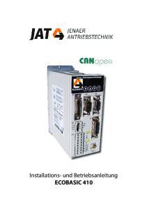 Installations- und Betriebsanleitung ECOBASIC 410