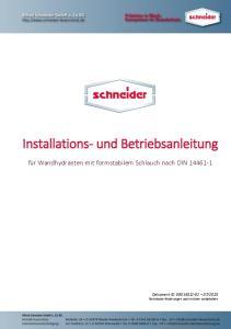 Installations- und Betriebsanleitung