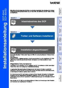 Installationsanleitung DCP-8040