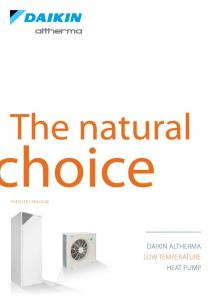 installer catalogue DAikin Altherma low temperature heat pump